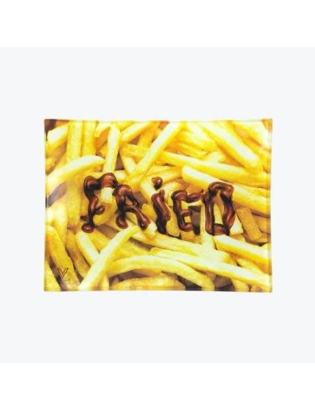 Bandeja de cristal |Fried patatas| Para liar.