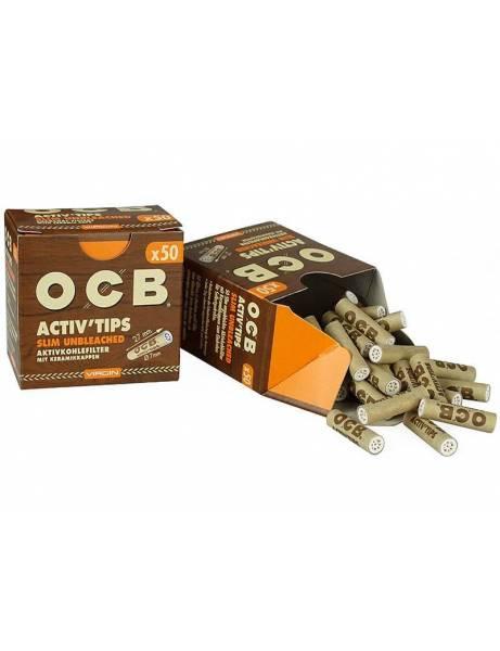 OCB Filtros Carbón activo marrones. 50u.