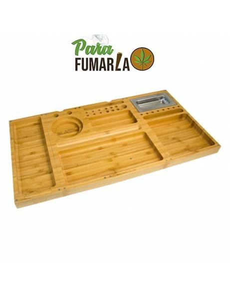 Raw caja bambú grande con cierres magnético.