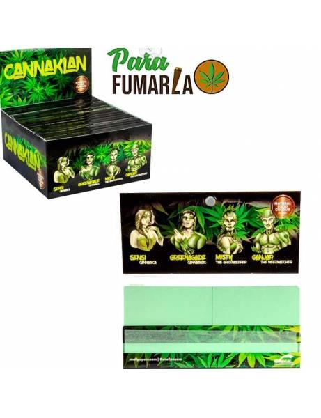 Papel de liar color verde con filtros