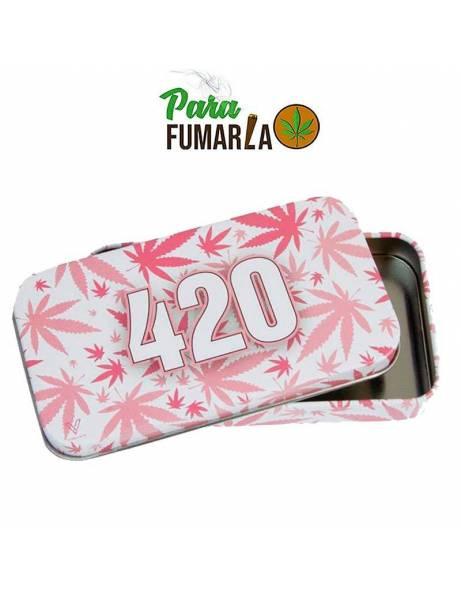 Caja metal 420 rosa.