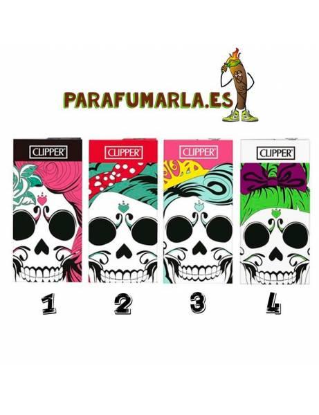 Papel + tips Clipper Pin-ups skulls