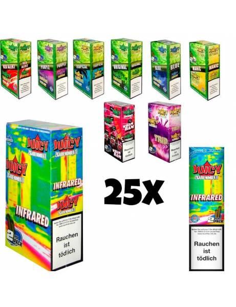 Caja 25 Juicy Blunts de sabores.