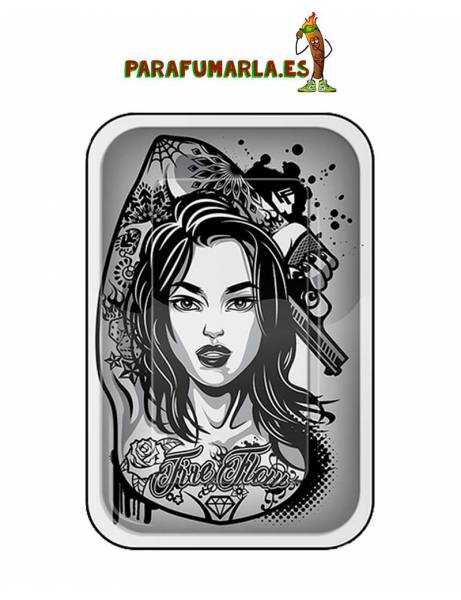 Bandeja Tattoo girl 27x17cm.