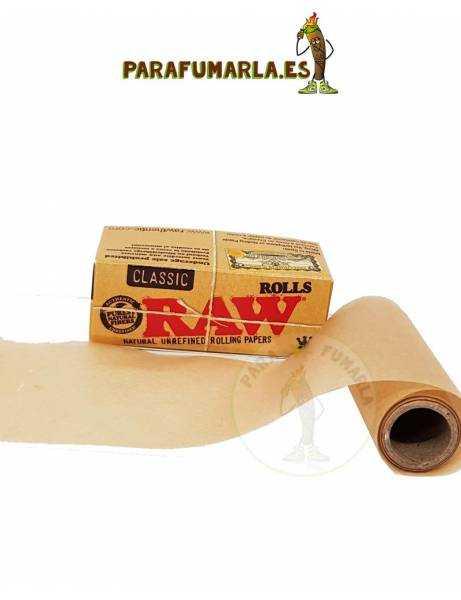 papel raw de rollo