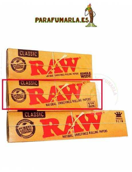 papel raw 1 1/4