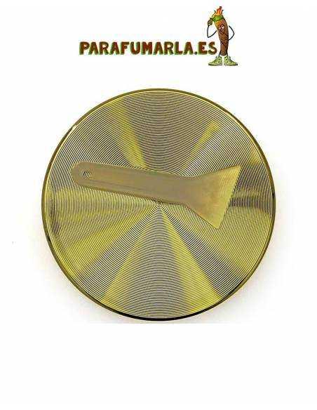 grinder de metal dorado