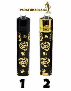 Clipper Micro Gold Roses