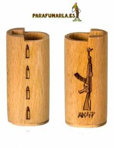 """Funda Clipper """"AK 47"""" madera."""