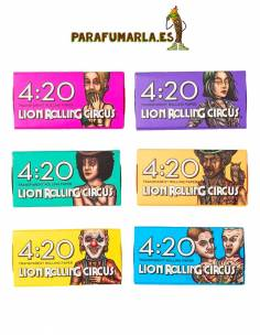 420 Papeles transparentes Lion Rolling Circus