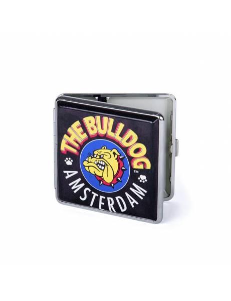 Pitillera metálica Bulldog Amsterdam. Negra.
