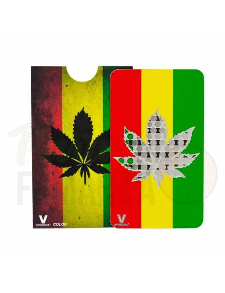 "Grinder card ""Rasta leaf""."