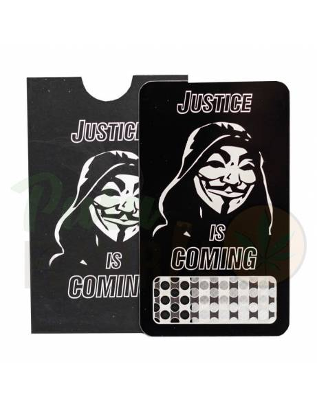 "Grinder card ""anonymous""."