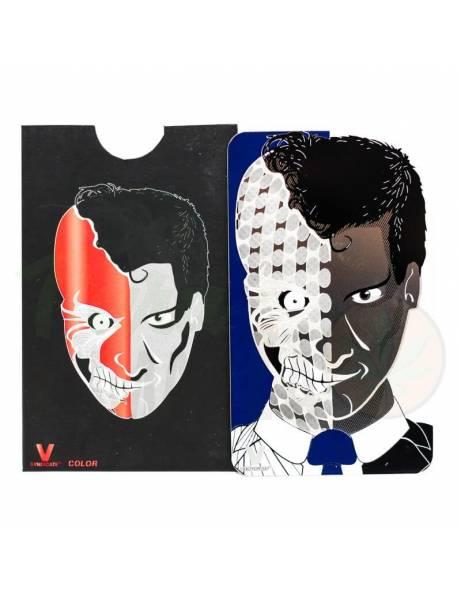 """Grinder card """"face""""."""