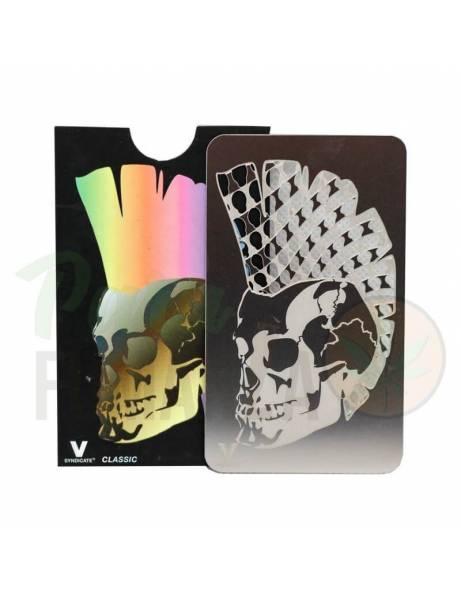 "Grinder Card ""Calavera punk"""