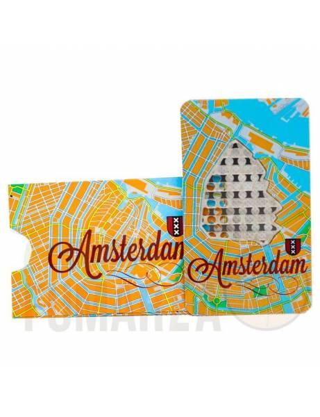 "Grinder Card ""Amsterdam map""."