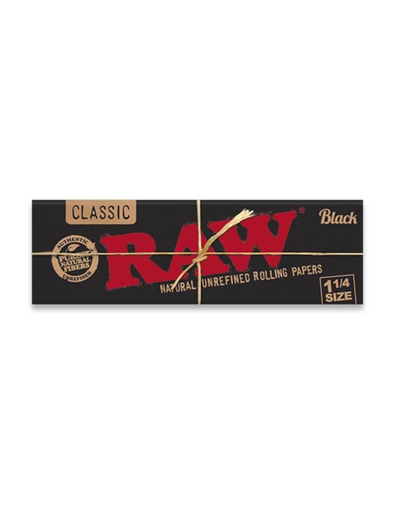 Papel raw black 1 1/4