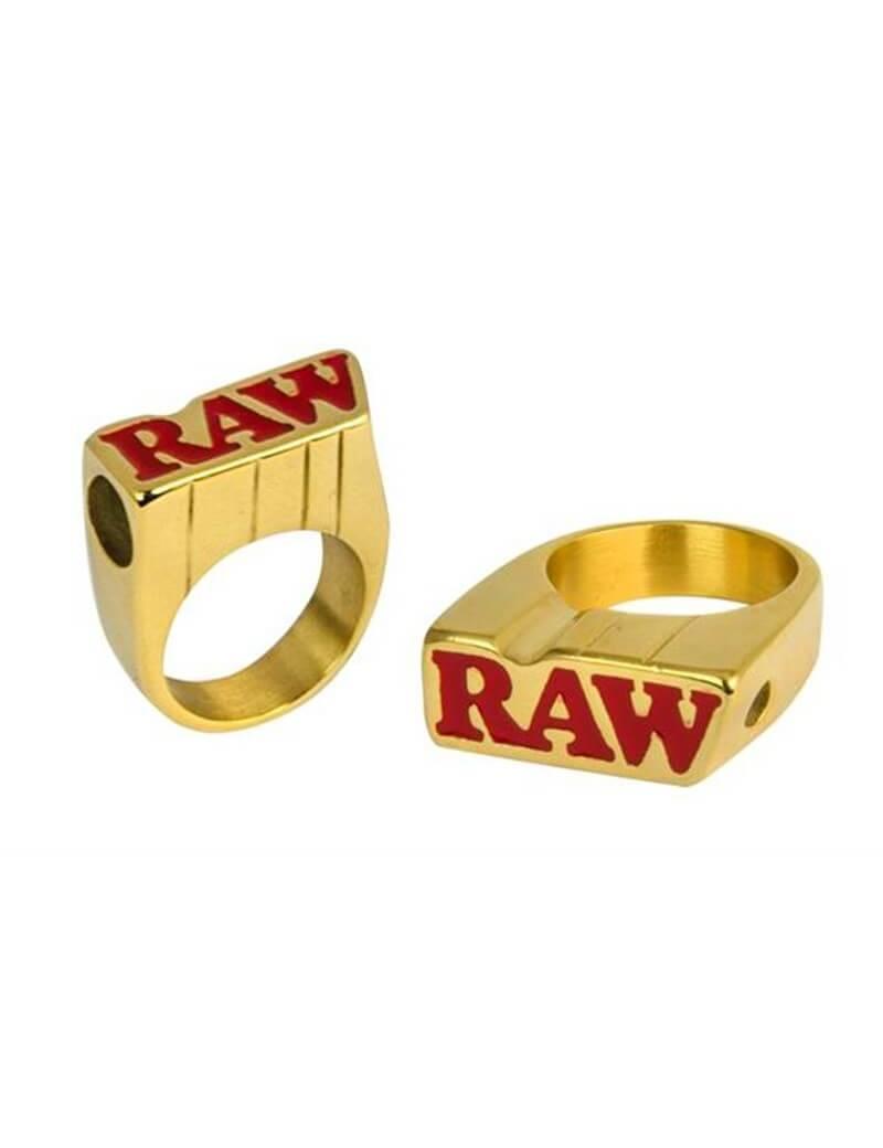Anillo raw oro de fumador