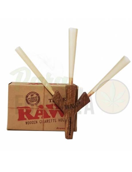 Raw pipa madera tridente.