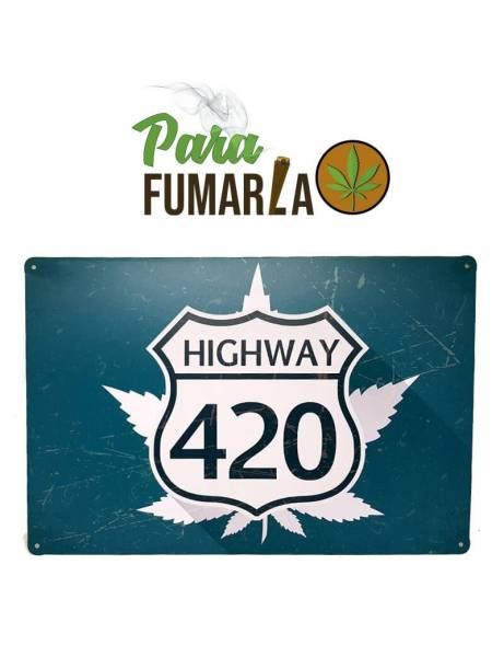 "Placa ""Highway 420""...."