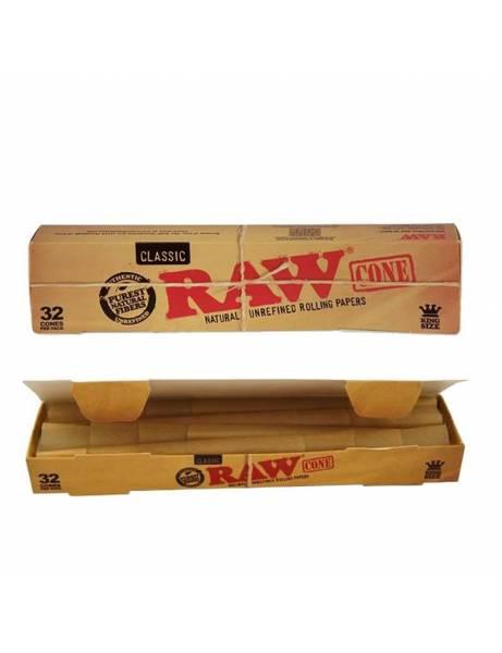 Caja 32 conos raw king size.